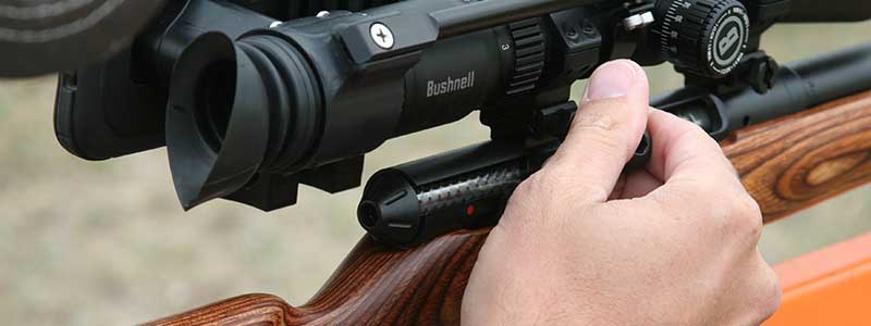 rifle scope using